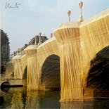 【Signed Poster】Christo & Jeanne-Claude:Le Pont Neuf Wrapped, Paris, 1975-85